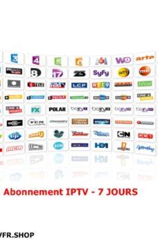 Abonnement IPTV 7 Jours